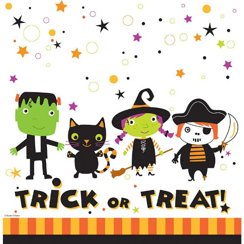 Creative Converting Halloween Tiny Terrors Plastic Banquet Table Cover