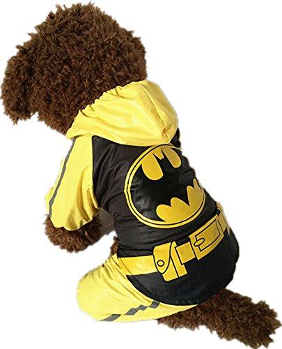 Evergreens Hero Stil Pet Hunde Regenmantel gelb L