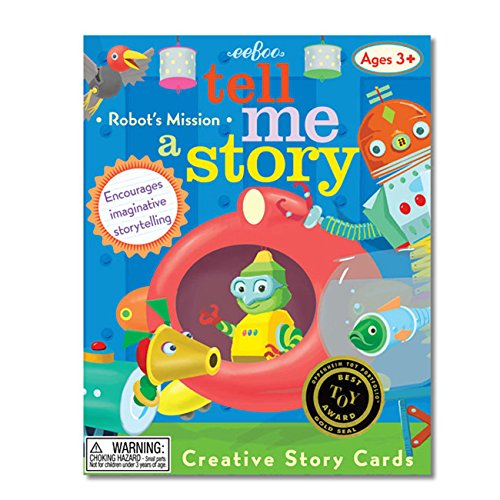 eeboo Tell Me a Story Creative Story Cards - Little Robot's Mission
