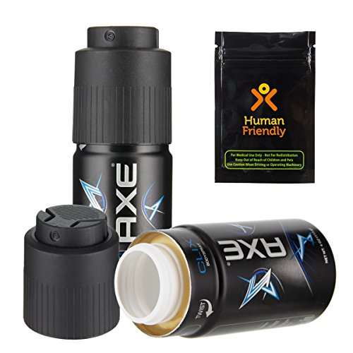 Axe Body Spray Diversion Safe Stash Can w HumanFriendly Smell-Proof Bag (Assorted) (Soda Can Stash compare prices)