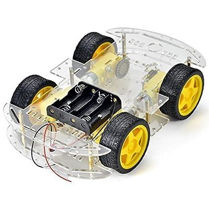 Raspberry Pi et compatible Arduino châssis de robot avec système d'entraînement moteur 4-