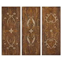 Uttermost Elegant Swirl Panels Set/3