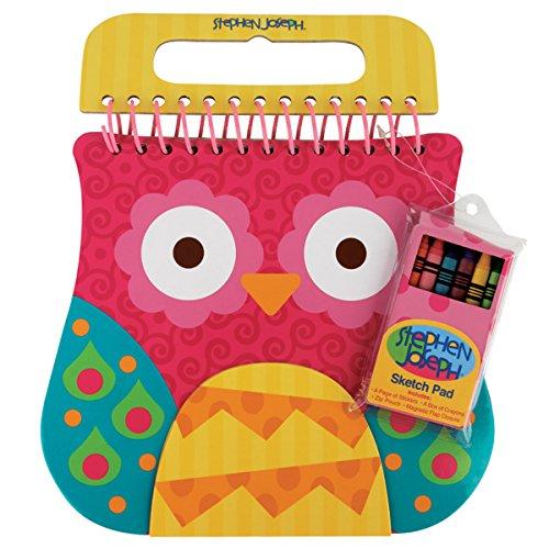 Stephen Joseph Shaped Sketch Pad-Owl - 1