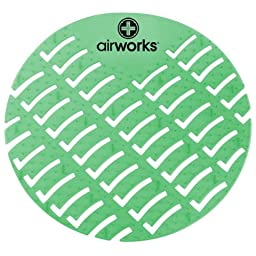 Hospeco Airworks AWUS005-BX Dark Green Evergreen Urinal Screen (Box of 10)