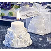 4EVER 2 Psc Tealight Candle Birthday Cake Shape Design White Fruit Scented For Childern