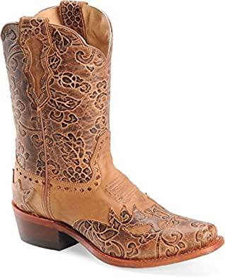 "Womens ""Jessi"" 9"" Rust Full Grain Leather Boots SN1015 B: Shoes"