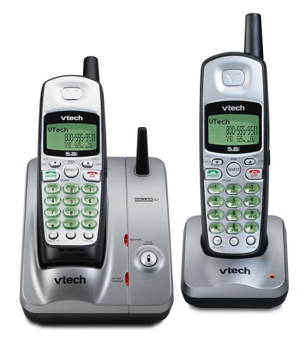 Vtech Ia 5845 - 5.8 Ghz Dual Handset Cordless Phone System S/ Caller Id / Call Waiting
