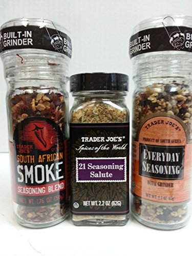 Trader Joe's 3 Seasoning Assortment - Everyday Seasoning, 21 Seasoning Salute, South African Smoke Seasoning Blend (Trader Joes Black Pepper Sauce compare prices)