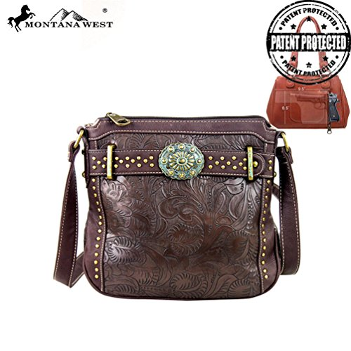 MW167G-8295 Montana West Concho Collection Messenger Bag-Coffee