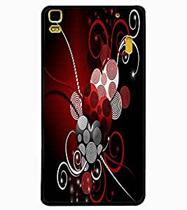 ColourCraft Hearts Pattern Design Back Case Cover for LENOVO A7000