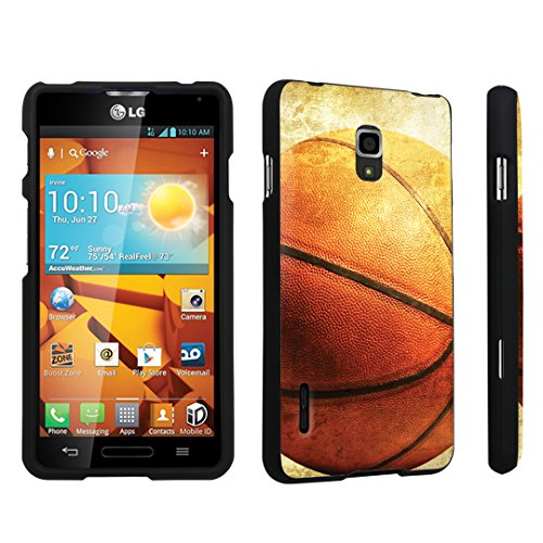 DuroCase LG Optimus F7 US780 / LG870 Hard Case Black - (Vintage Basket Ball) (Lg Optimus F7 Cases compare prices)