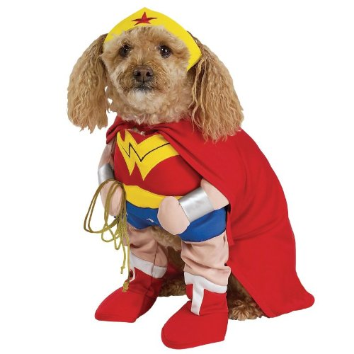 Rubies Costume Co 18839 Wonder Woman Deluxe Pet Costume Size Large (Wonder Woman Dog Costume)