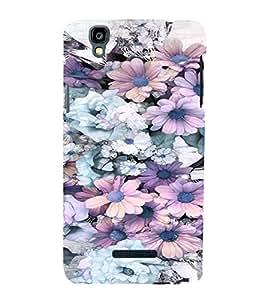 PrintVisa Blue And Pink Flower Pattern 3D Hard Polycarbonate Designer Back Case Cover for Yu Yureka PlusYU5510A