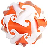 Ravi Creations Plastic Diwali Lamp - RC-23, Orange & White, 18 Cm X 18 Cm X 18 Cm