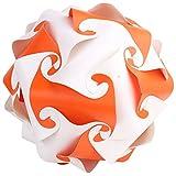 Ravi Creations Plastic Diwali Lamp - RC-23, Orange & White, 18 Cm X 18 Cm X 18 Cm