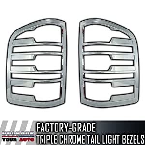 2007-2013 Chevy Silverado 2pc Chrome Tail Light Bezels