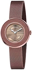 Gucci Women's YA129520 Gucci U - Play Collection Analog Display Swiss Quartz Brown Watch