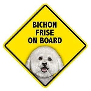 Amazon.com : Bichon Frise On Board Home & Car Window Swinger Sign