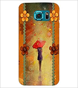 PrintDhaba Painted Girl D-2688 Back Case Cover for SAMSUNG GALAXY S6 (Multi-Coloured)