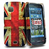 Accessory Master Cover for Nokia C5-03 Plastic Vintage Union Jack Design