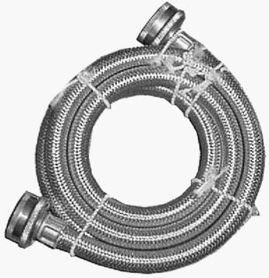 Watts WTS-SPL72-1212PB 6-Foot Stainless Steel Washing Machine Hose, 1-PacK (6 Ft Garden Hose compare prices)