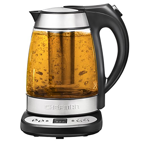 Chefman RJ11-17-GP Precision Electric Kettle, Silver (Tea Infuser With Kettle compare prices)