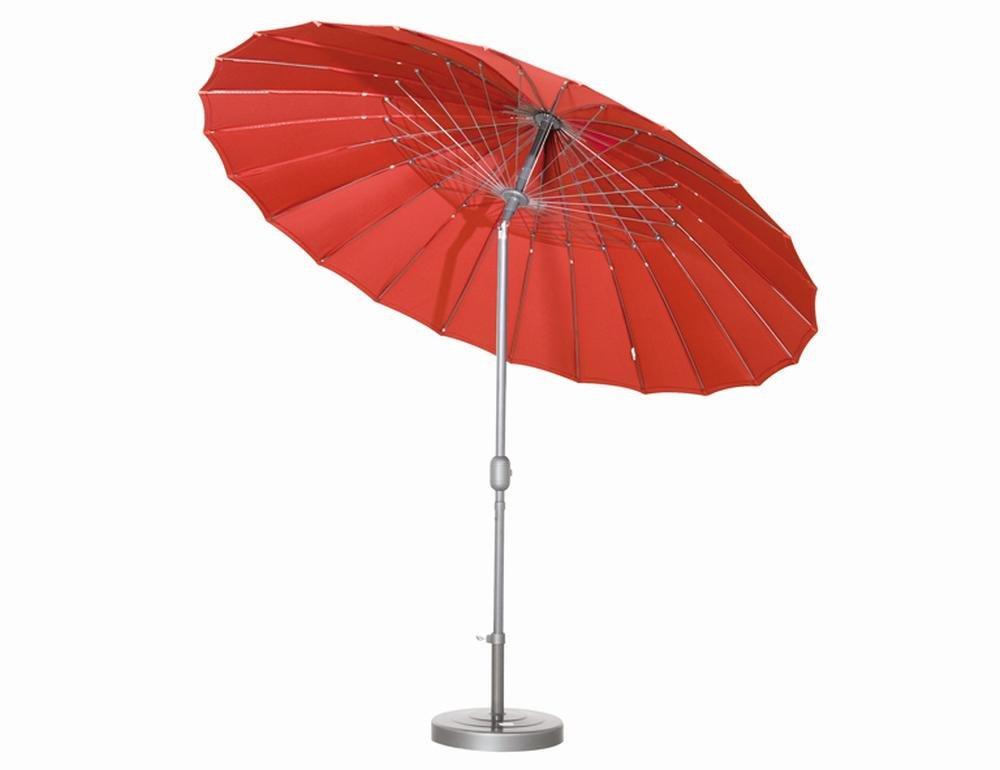 Siena Garden 599272 Sunshine Schirm Bezug rot Gestell silber Ø 270 cm jetzt kaufen