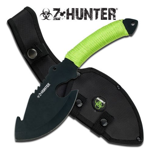 """Z-Hunter Cord Wrapped Handle 11"""" Axe (Zombie Green Cord Wrap)"""