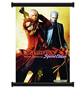 """Devil May Cry Anime Game Fabric Wall Scroll Poster (16"""" x 24"""") Inches"""