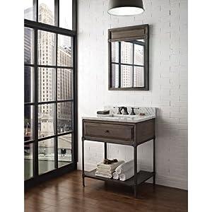 Amazon Com Fairmont Designs 30 Inch Toledo Open Shelf Vanity Driftwood Gray Bathroom Vanities