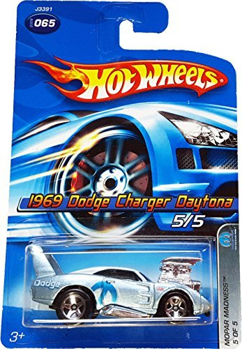 Mopar Madness Series #5 1969 Dodge Charger Daytona Candy Blue #2006-65 Collectible Collector Car Mattel Hot Wheels 1:64 Scale