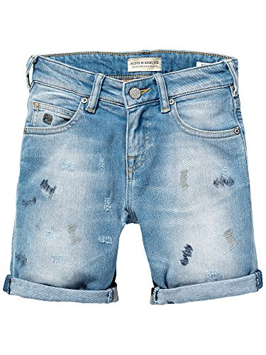 Scotch Shrunk Mercer Short - Sundrenched Stretch-Shorts Bambino    Blu (Denim 48) 140