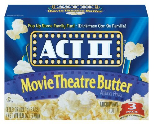 Act Ii Movie Theatre Butter Microwave Popcorn 4 Boxes Of 3 (12 Bags Total)