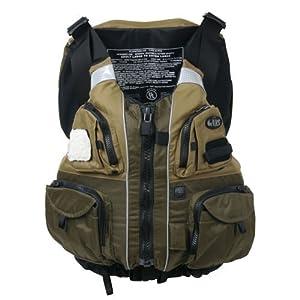 NRS Khaki/Olive Chinook Flotation Fishing Vest PFD - XXL