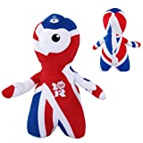 511AL5sN2pL. SL160  Genuine London 2012 Olympics Game OFFICIAL Wenlock 25cm Union Jack Plush Toy