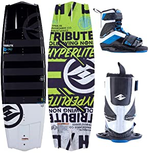 Buy 2014 Hyperlite Tribute Wakeboard with Focus Boots by Hyperlite