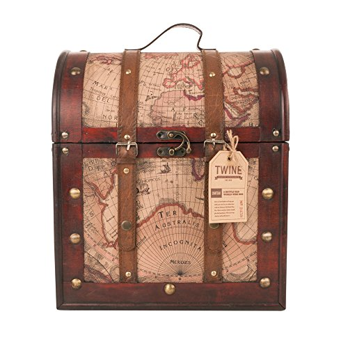 Chateau 6 Bottle Old World Wooden Wine Box by Twine (Wine Bottle Case compare prices)