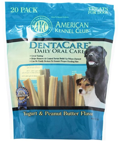 AKC DentaCare Sticks - Peanut Butter and Yogurt Flavor 20 pa