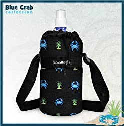 BLUE CRABS Water Bottle Holder Blue Crab Sport Bottles