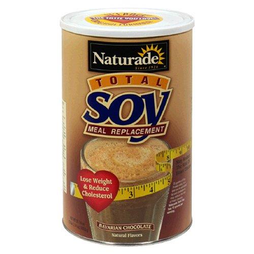Naturade totale de soja d'origine de remplacement de repas en poudre, chocolat bavarois. , 37,14 onces