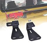 OMOTOR Hi-Lift Jack Hood Mounts Brackets Fit Jeep Wrangler CJ 1944-1986/ YJ 1987-1995/TJ 1997-2006 (Pair, Black)