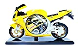 Yellow Creative cute bedrooms motorcycle mold base alarm clock Kids Bedside Sleep Trainer send gift items for children of students