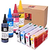 Generic Refillable Cartridges and Refill Dye Ink for Epson WorkForce Pro WP-4010 4020 4023 4090 4520 4530 4533 4540 4590 Printer Ink Cartridge Model T676
