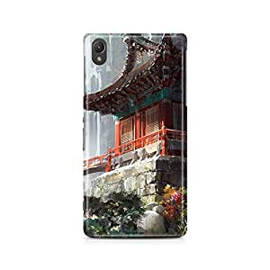 Motivatebox - Sony Xperia M4 Back Cover - Chineese Temple Polycarbonate 3D Hard case protective back cover. Premium Quality designer Printed 3D Matte finish hard case back cover.