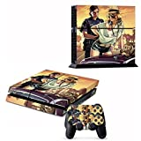NuoYa001 New ps4 skins decals vinyl for playstation 4 console/Controller GTA V Decal #008