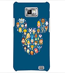 PrintDhaba Mickey Impression D-2394 Back Case Cover for SAMSUNG GALAXY S2 (Multi-Coloured)