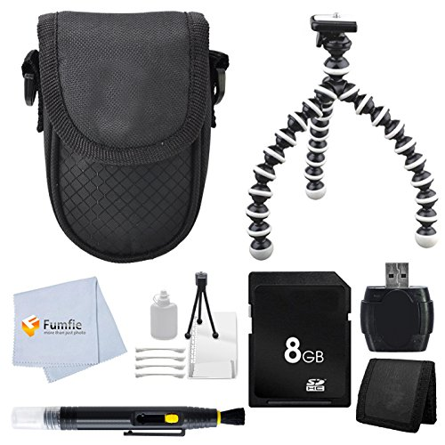 Accessory Kit For Sony W800/B Dsc-W800 Dsc-W810 Dsc-W830 20 Mp Digital Camera. Package Includes: 8Gb Memory Card + Memory Card Reader + Flexible Gripster Tripod + Memory Card Wallet + Point & Shoot Case + Lens Cleaning Pen + Starter Kit + Microfiber Clean