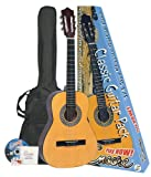 Encore ENC34OFT Natural Wood Three Quarter Classic Guitar Outfit