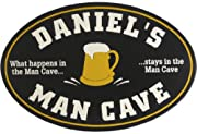 Man Cave Oval Personalized 12 x 18