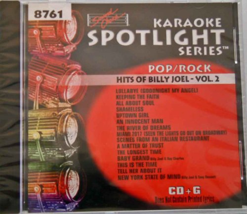 Sound Choice Karaoke 8761 - Billy Joel Vol 2 (New York State Of Mind Karaoke compare prices)